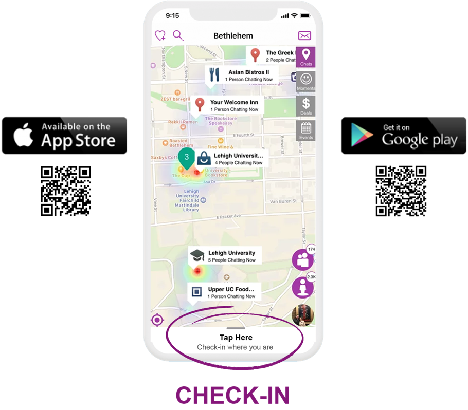 Check-In Aspect of UBMe's Technology